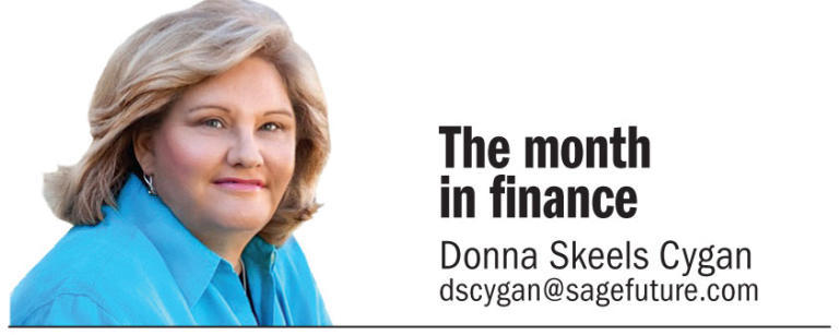 The month in finance, Donna Skeels Cygan