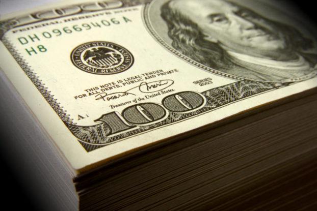 Stack of 100 dollar billls